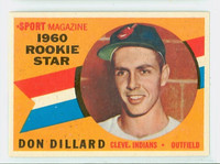 1960 Topps Baseball 122 Don Dillard Cleveland Indians Excellent to Excellent Plus