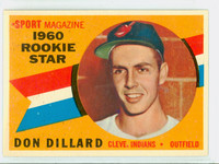 1960 Topps Baseball 122 Don Dillard Cleveland Indians Near-Mint