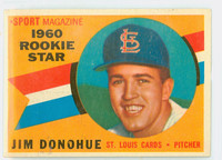 1960 Topps Baseball 124 Jim Donohue St. Louis Cardinals Near-Mint