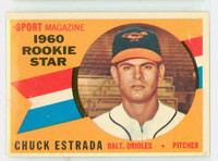 1960 Topps Baseball 126 Chuck Estrada ROOKIE Baltimore Orioles Near-Mint