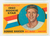 1960 Topps Baseball 127 Ron Hansen Baltimore Orioles Excellent to Excellent Plus