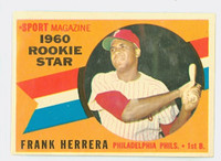 1960 Topps Baseball 130 Frank Herrera Philadelphia Phillies Excellent to Excellent Plus
