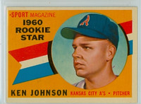 1960 Topps Baseball 135 Ken Johnson Kansas City Athletics Excellent to Mint