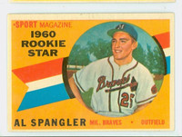 1960 Topps Baseball 143 Al Spangler Milwaukee Braves Excellent to Excellent Plus