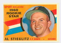 1960 Topps Baseball 144 Al Stieglitz San Francisco Giants Excellent to Excellent Plus