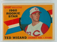 1960 Topps Baseball 146 Ted Wieand Cincinnati Reds Excellent to Mint