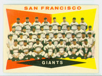 1960 Topps Baseball 151 Giants Team Excellent to Mint