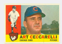 1960 Topps Baseball 156 Art Ceccarelli Chicago Cubs Excellent to Excellent Plus