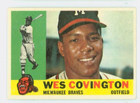 1960 Topps Baseball 158 Wes Covington Milwaukee Braves Excellent to Excellent Plus