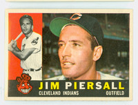1960 Topps Baseball 159 Jim Piersall Cleveland Indians Near-Mint