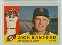 1960 Topps Baseball 165 Jack Sanford San Francisco Giants Excellent to Mint