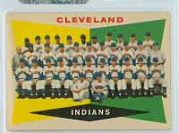 1960 Topps Baseball 174 Indians Team Excellent to Excellent Plus
