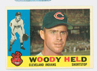 1960 Topps Baseball 178 Woody Held Cleveland Indians Excellent