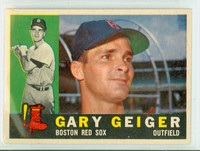 1960 Topps Baseball 184 Gary Geiger Boston Red Sox Near-Mint
