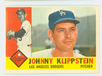 1960 Topps Baseball 191 Johnny Klippstein Los Angeles Dodgers Excellent to Excellent Plus