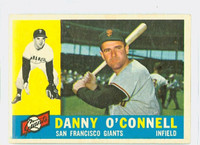 1960 Topps Baseball 192 Danny O' Connell San Francisco Giants Excellent