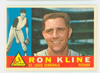 1960 Topps Baseball 197 Ron Kline St. Louis Cardinals Excellent to Excellent Plus