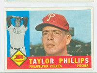 1960 Topps Baseball 211 Taylor Phillips Philadelphia Phillies Excellent to Excellent Plus