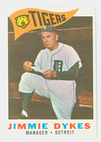 1960 Topps Baseball 214 Jimmy Dykes Detroit Tigers Excellent to Excellent Plus