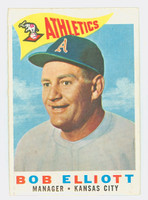 1960 Topps Baseball 215 Bob Elliott Kansas City Athletics Excellent to Excellent Plus