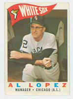 1960 Topps Baseball 222 Al Lopez Chicago White Sox Very Good