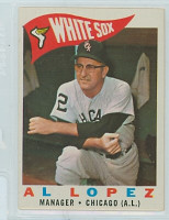 1960 Topps Baseball 222 Al Lopez Chicago White Sox Excellent to Mint