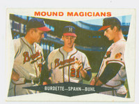 1960 Topps Baseball 230 Mound Magicians Milwaukee Braves Excellent to Mint