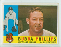 1960 Topps Baseball 243 Bubba Phillips Cleveland Indians Excellent