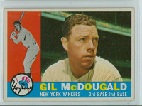 1960 Topps Baseball 247 Gil McDougald New York Yankees Very Good to Excellent