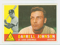 1960 Topps Baseball 263 Darrell Johnson St. Louis Cardinals Excellent to Excellent Plus