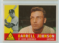 1960 Topps Baseball 263 Darrell Johnson St. Louis Cardinals Excellent to Mint