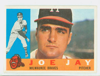 1960 Topps Baseball 266 Joe Jay Milwaukee Braves Excellent to Mint