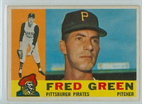 1960 Topps Baseball 272 Fred Green Pittsburgh Pirates Excellent to Mint