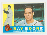 1960 Topps Baseball 281 Ray Boone Milwaukee Braves Excellent to Excellent Plus