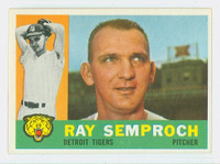 1960 Topps Baseball 286 Ray Semproch Detroit Tigers Excellent to Excellent Plus