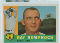 1960 Topps Baseball 286 Ray Semproch Detroit Tigers Excellent to Mint