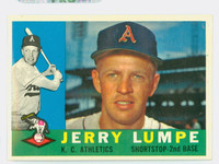 1960 Topps Baseball 290 Jerry Lumpe Kansas City Athletics Near-Mint Plus