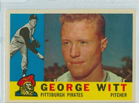 1960 Topps Baseball 298 George Witt Pittsburgh Pirates Excellent to Mint