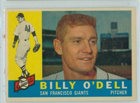 1960 Topps Baseball 303 Billy O' Dell San Francisco Giants Excellent to Mint