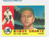 1960 Topps Baseball 315 Bobby Shantz New York Yankees Excellent
