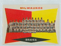 1960 Topps Baseball 381 Milwaukee Braves Excellent to Mint