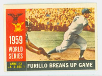 1960 Topps Baseball 387 World Series Game 3 Very Good to Excellent