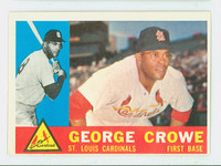 1960 Topps Baseball 419 George Crowe St. Louis Cardinals Excellent to Excellent Plus White Back