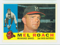 1960 Topps Baseball 491 Mel Roach Milwaukee Braves Excellent to Excellent Plus