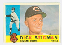 1960 Topps Baseball 507 Dick Stigman Cleveland Indians Excellent