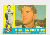 1960 Topps Baseball 530 Mike McCormick High Number San Francisco Giants Very Good