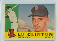 1960 Topps Baseball 533 Lu Clinton High Number Boston Red Sox Very Good to Excellent