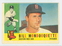 1960 Topps Baseball 544 Bill Monbouquette High Number Boston Red Sox Very Good