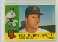 1960 Topps Baseball 544 Bill Monbouquette High Number Boston Red Sox Very Good to Excellent