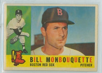 1960 Topps Baseball 544 Bill Monbouquette High Number Boston Red Sox Excellent